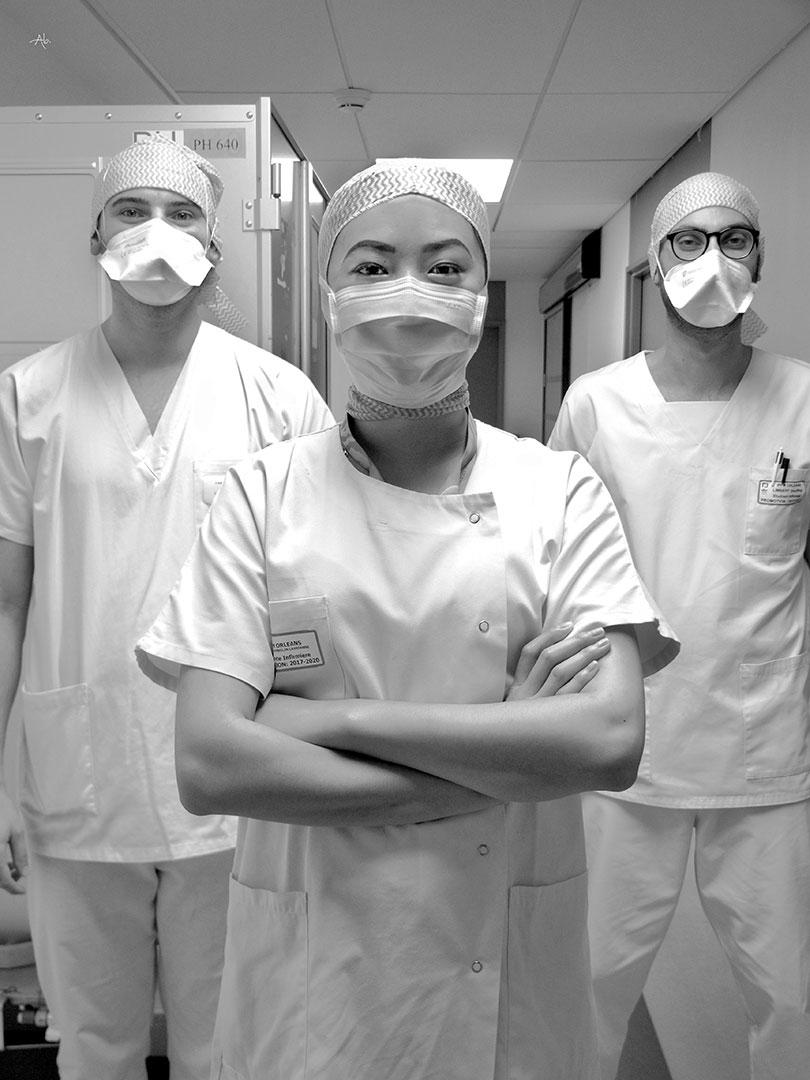 Laurianne, Vincent et Geoffrey, étudiants infirmiers