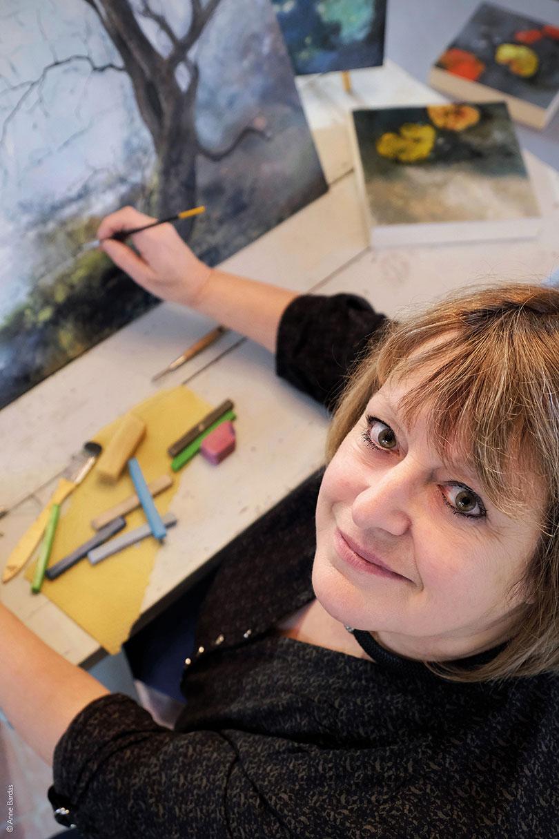 Elise Pioger, Peinture originale à la cire d'abeilles